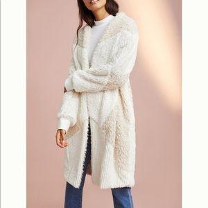 Faux fur Anthropologie parched coat runs large!